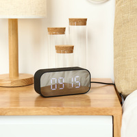AEC BT501 Портативный Беспроводной Bluetooth Динамик Колонка сабвуфер Музыка Sound Box светодио дный Беспроводной Динамик с будильником зеркало