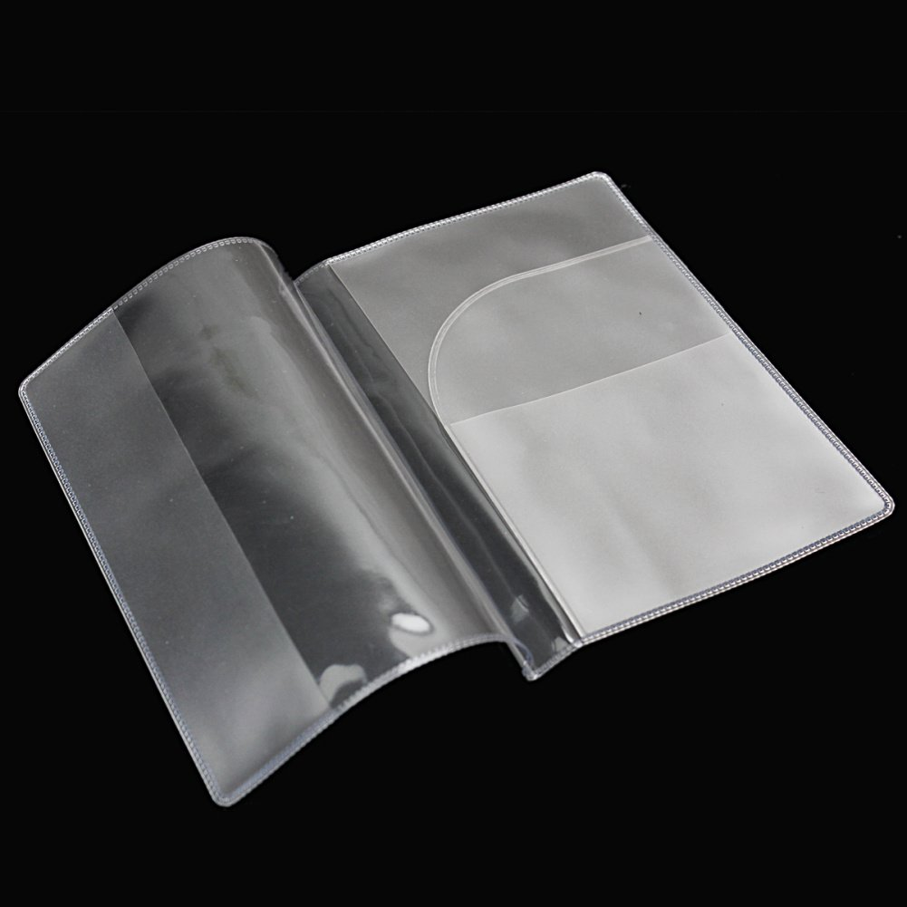 VSEN 10pcs2 x Fashion Transparent Passport Holder Cover Case Travel Wallet Protector Folder