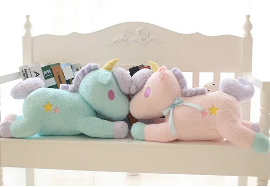 Plush doll 1pc 55cm lovely cartoon sweet fly horse unicorn pillow cushion decoration children stuffed toy creative gift for baby
