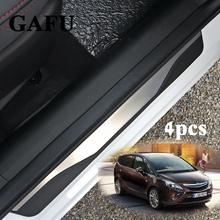 For Opel Zafira c Stainless Steel Door Sill Scuff Plate For Vauxhall Zafira Tourer c Car Styling Stickers Accessories 4pcs стоимость