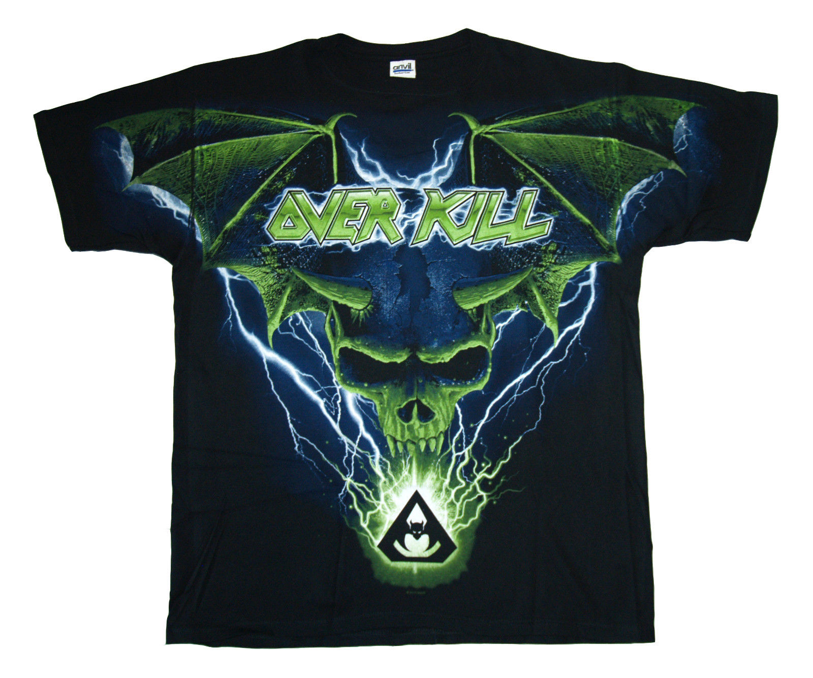 OVERKILL - Big Print Bat Wigs Skull - T SHIRT S-M-L-XL-3XL New Official T Shirt Printed Pure Cotton MenS
