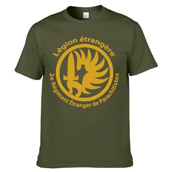 Nowy francuski Legion zagraniczny siły specjalne wojna koszulka wojskowa mężczyźni bawełniana koszulka z krótkim rękawem Tees topy Homme Camiseta darmowa wysyłka tanie i dobre opinie NoEnName_Null Na co dzień COTTON O-neck regular Geometryczne Suknem