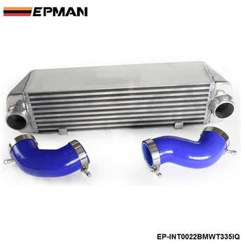 FOR BMW 135 135i 335 335i E90 E92 N54 MOUNT TWIN TURBO INTERCOOLER WITH SILICON HOSE KIT image