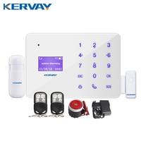 Kervay 433 mhz Draadloze Afstandsbediening Alarmsysteem IOS Android APP Smart Voice Inbreker GSM Alarmsysteem