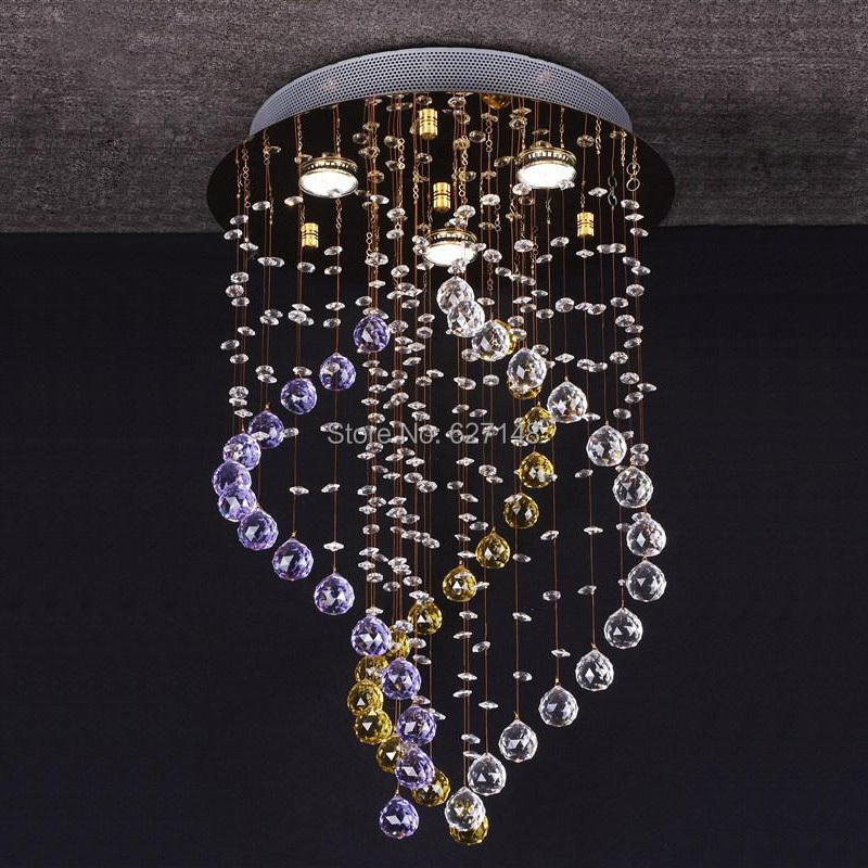 new modern colorful chandelier crystal lighting fixtures