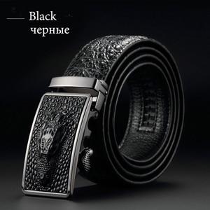 Image 2 - [DWTS] 2016 Designer Belts Men High Quality Mens Belts Luxury Crocodile Grain Belts Automatic Buckle Business Men Belt 90 125cm