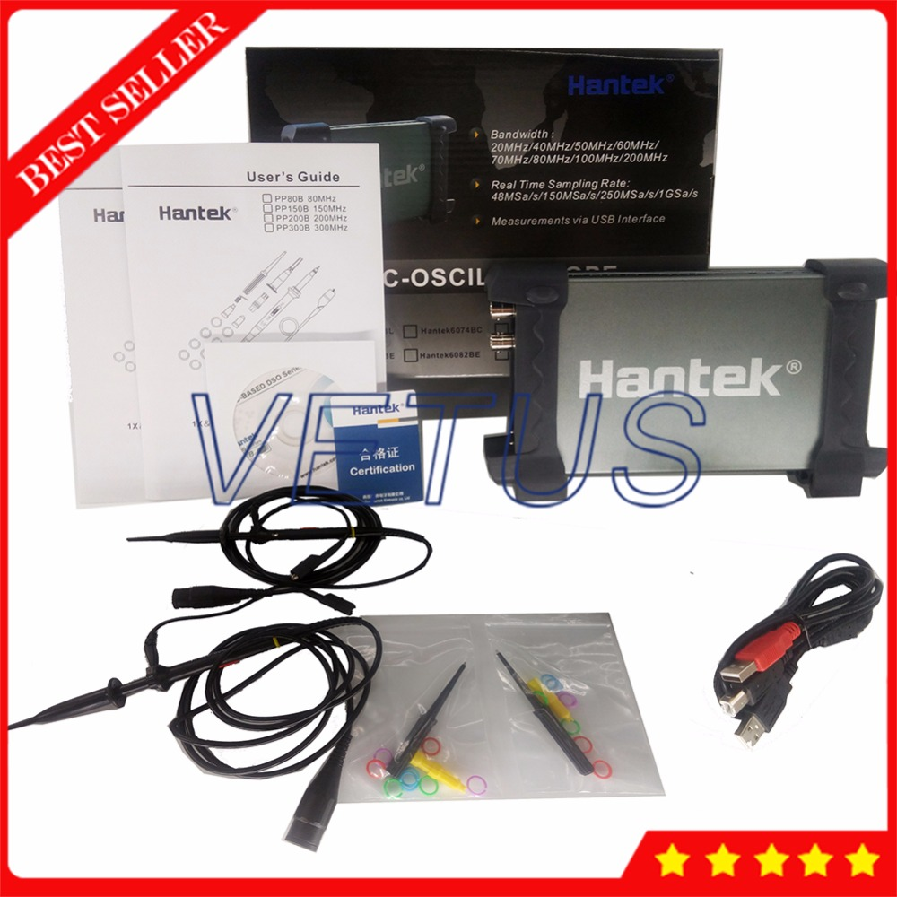 PC Based 2 Channel 20MHz USB Oscilloscope Osciloscopio 48MSa/s Hantek6022BE Scopemeter