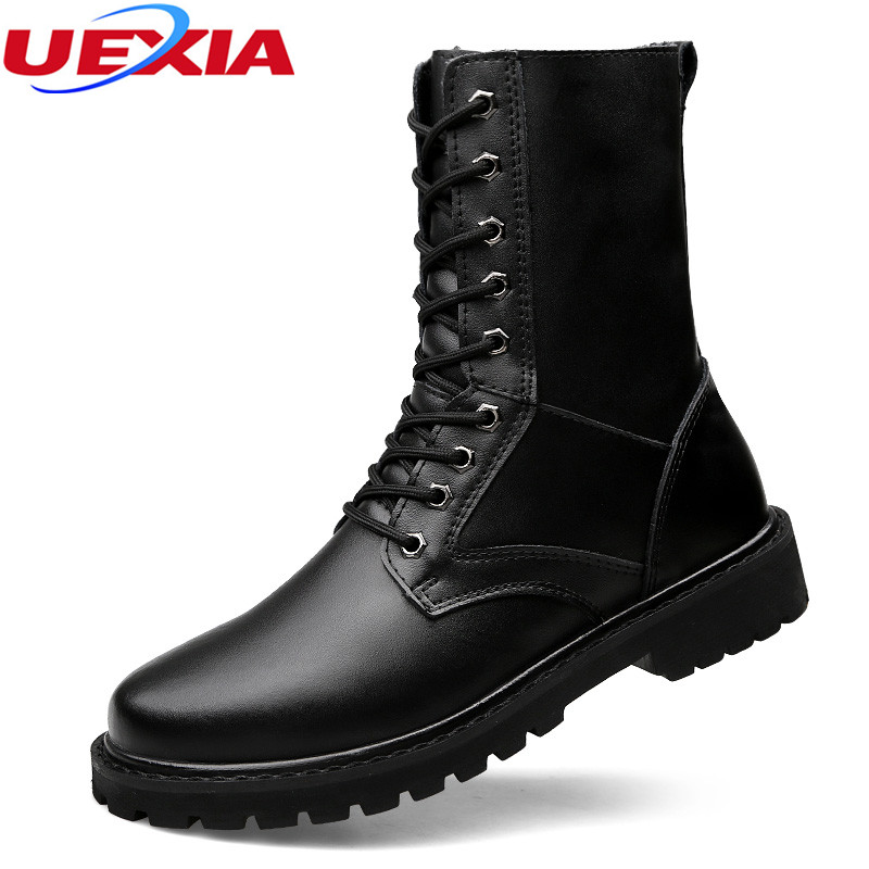 UEXIA New Arrival High Top Boots Wit Fur Casual Shoes Man For Winter Warm Comfortable Mens Casual Shoes Footwear Working bot