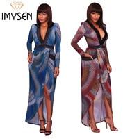 IMYSEN S-XXXL 섹시한 드레스 플러스 사이즈 여성의 새로운