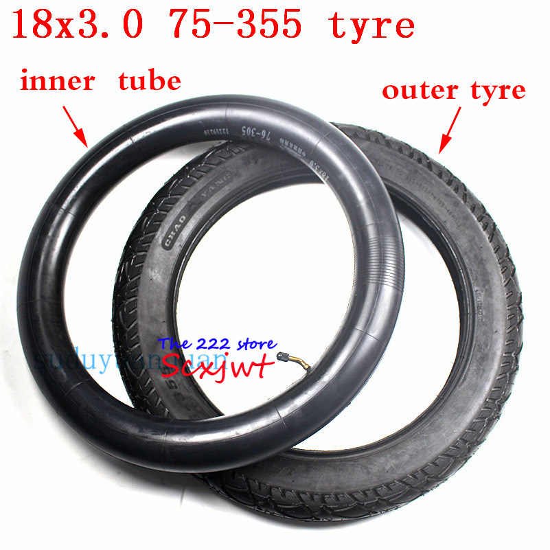 18 Inch Tires >> 18x3 0 Off Road Tire 76 355 Tube Monowheel Accessories 18 Inch 18 3 0 Tyre Inner Tube Fits Electric Vehicle Electric Tricycle
