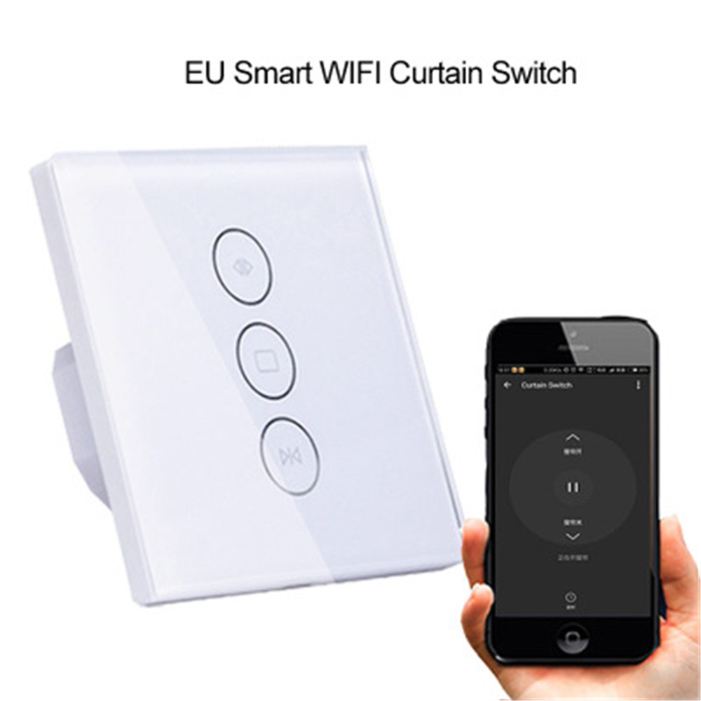 Intelligent Electric Wifi Curtain Switch Panel Mobile Phone Remote Control Scenario Linkage Timing Remote Control Switch