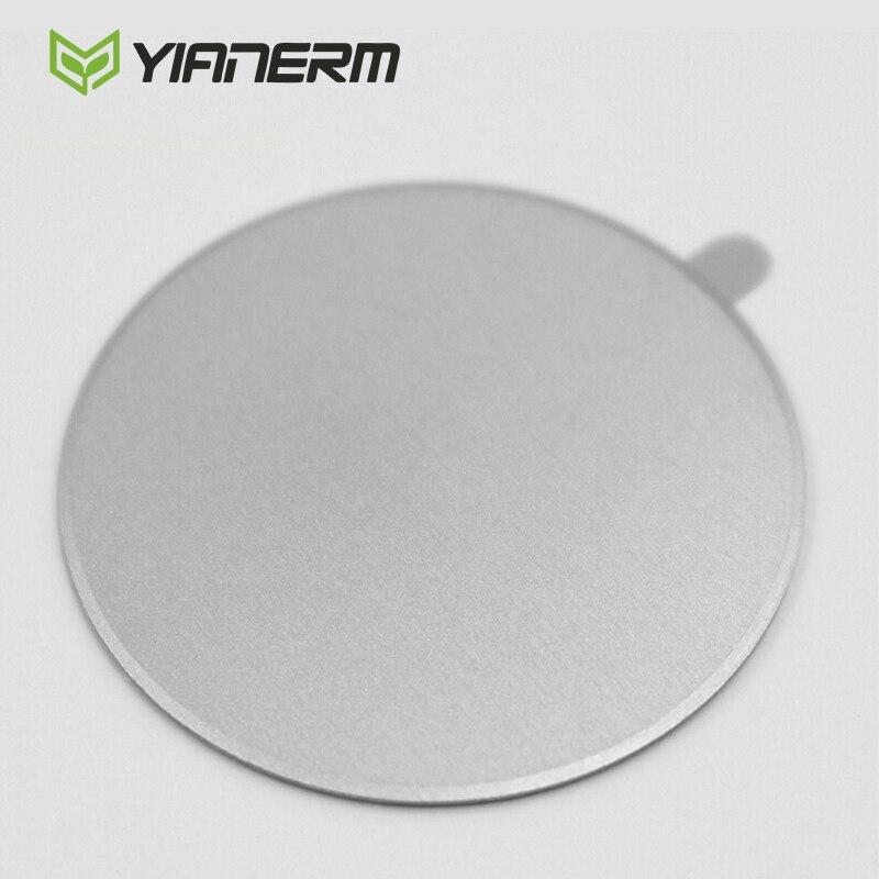 Yianerm 5 шт. пакет металлическая пластина для магнитного автомобильный держатель телефона Аксессуары 30*30 матовой нержавеющей железные листы