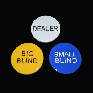 Small Blind/Big Blind/Dealer Poker Chip Set 3pcs/Lot ABS Coin Chips Valuable Casino Chip Jetton For Texas Poker Fanncy Handfeel