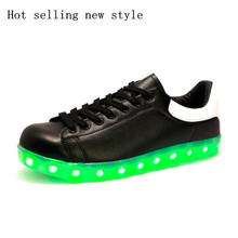 2016 autumn and winter high quality fashion hot new boys and girls led shoes kids USB charging Luminous Sneakers, kinder schuhe