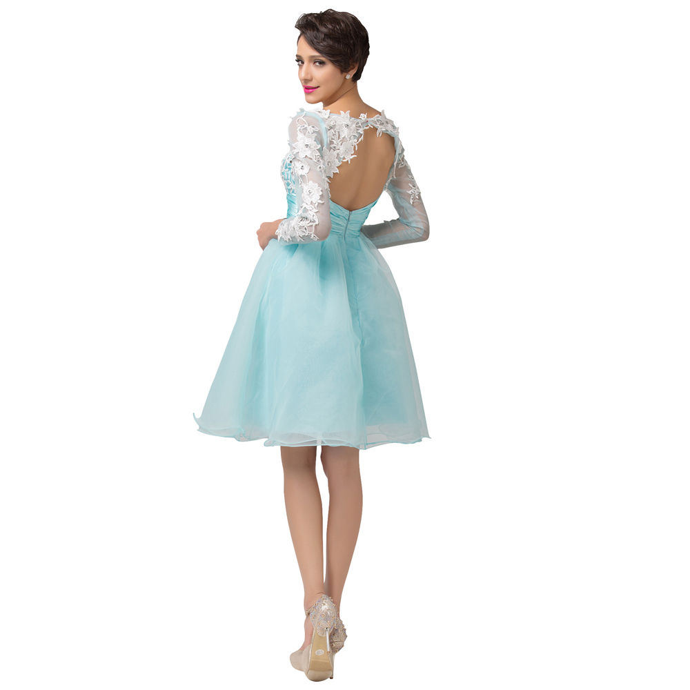 Unique Short Long Sleeved Prom Dresses Component - All Wedding ...