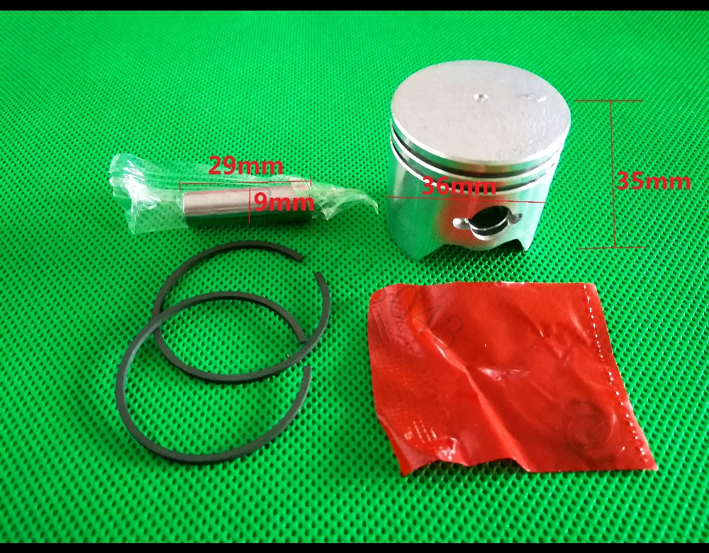 33CC 36 Brush Cutter Piston Kit with Piston Ring for 1E36F Engine Cylinder 36MM Grass Trimmer Parts TL33 TU33 TB3333CC 36 Brush Cutter Piston Kit with Piston Ring for 1E36F Engine Cylinder 36MM Grass Trimmer Parts TL33 TU33 TB33