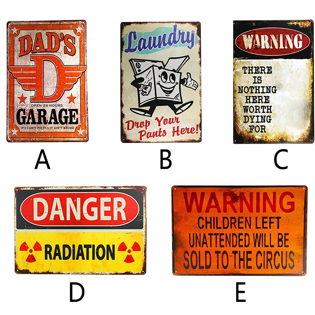 """Metal Sign /""""WARNING NOTHING WORTH DYING/"""" Vintage Pub Bar Decor Wall Plaque  DT"""