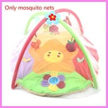 Baby Baby Activity Playmat Mosquito Net Baban Newydd-anedig Gêm Blancedi Teganau Breced Bwced Net Net Chwarae Crib Crib