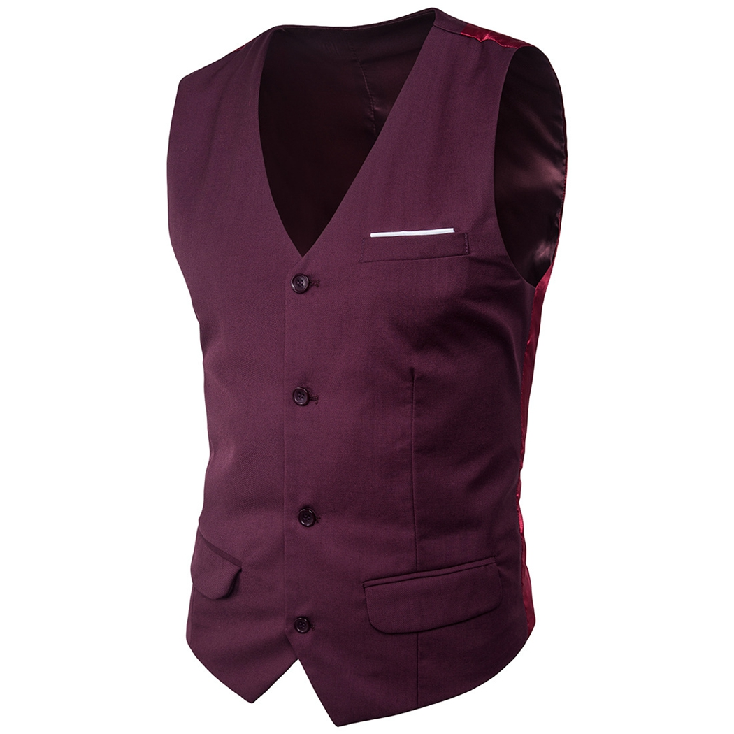 Plus Size Mens Slimming Dress Vest Causal Business Wedding Waistcoat Sleeveless Blazer F ...