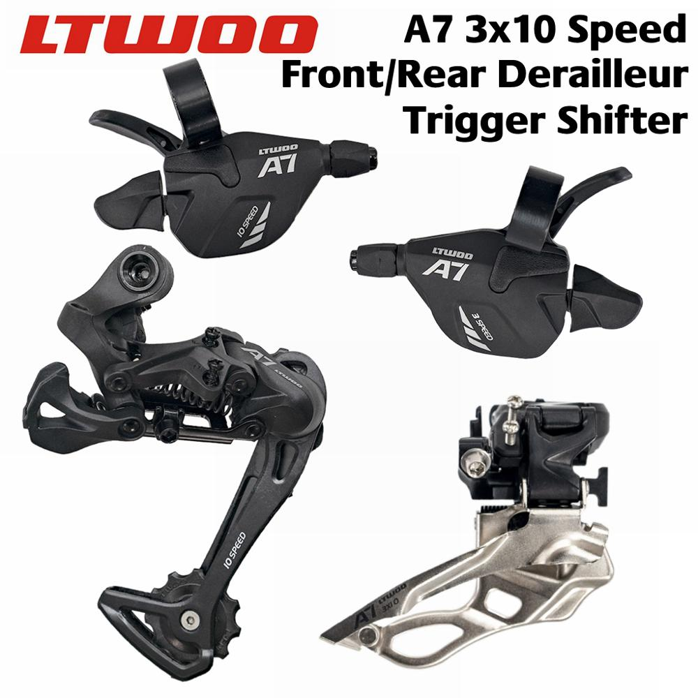 LTWOO A7 <font><b>2x10</b></font> speed 3x10 speed, 20s 30s Trigger Shifter + Rear Derailleur + Front Derailleur Groupset M6000 DEORE image