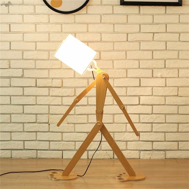 Jwnew Modern Wooden Floor Lamp Modern Minimalist Wooden Floor