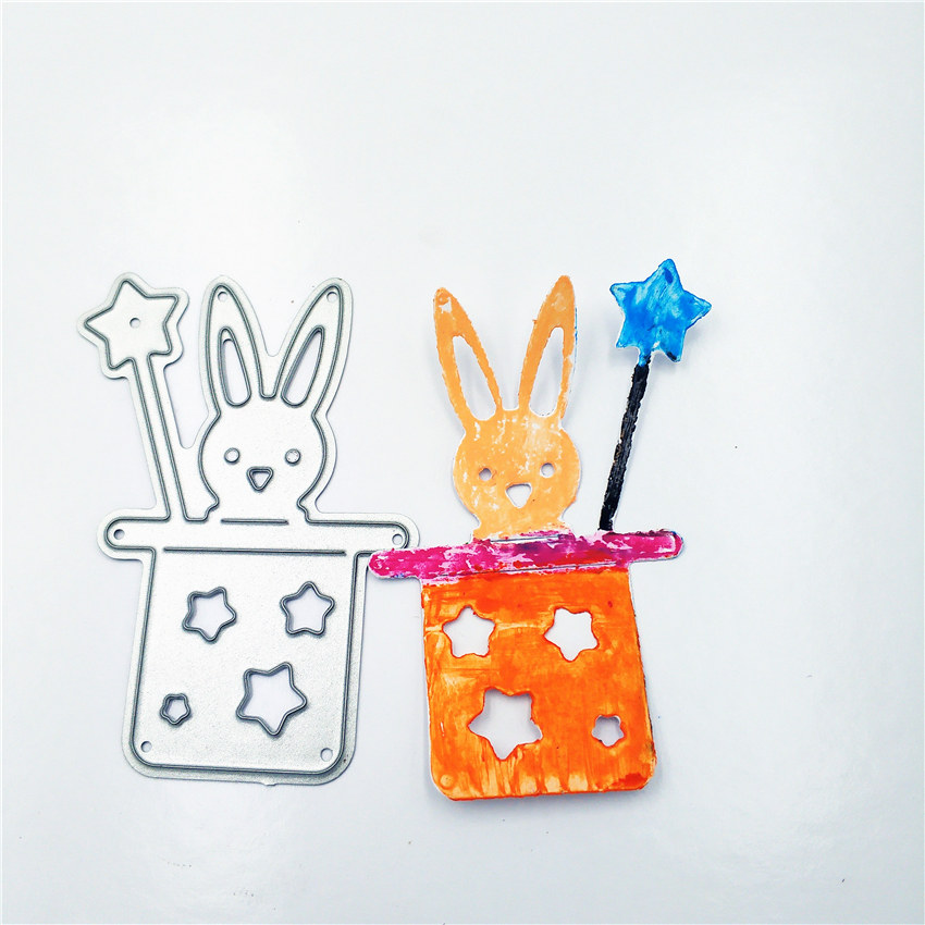 EASTER BUNNY WITH CARROT DIE CUTS ~ EMBELLISHMENT BOY RABBIT