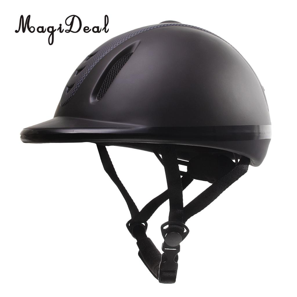 MagiDeal 1Pc Adjustable ABS&Rubber Western Horse Riding Helmet Low Profile Equestrian Head Guard XS Outdoor Riding Equipment equestrian horse riding helmet riding horse helmet for men women child xs xxl