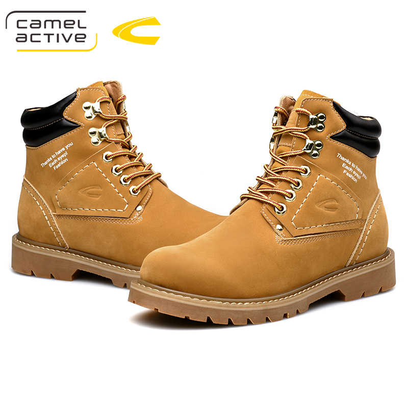 767d83d73a4 Camel Active New Hiking Shoes Rushed Genuine Leather Lightwei Winter  Outdoor Trekking Boots Lace-up