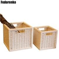 Wicker Basket Laundry Clothing Sundries Home Storage Organization Storage Basket Set Decorative Wicker Baskets Mand Panier Osier