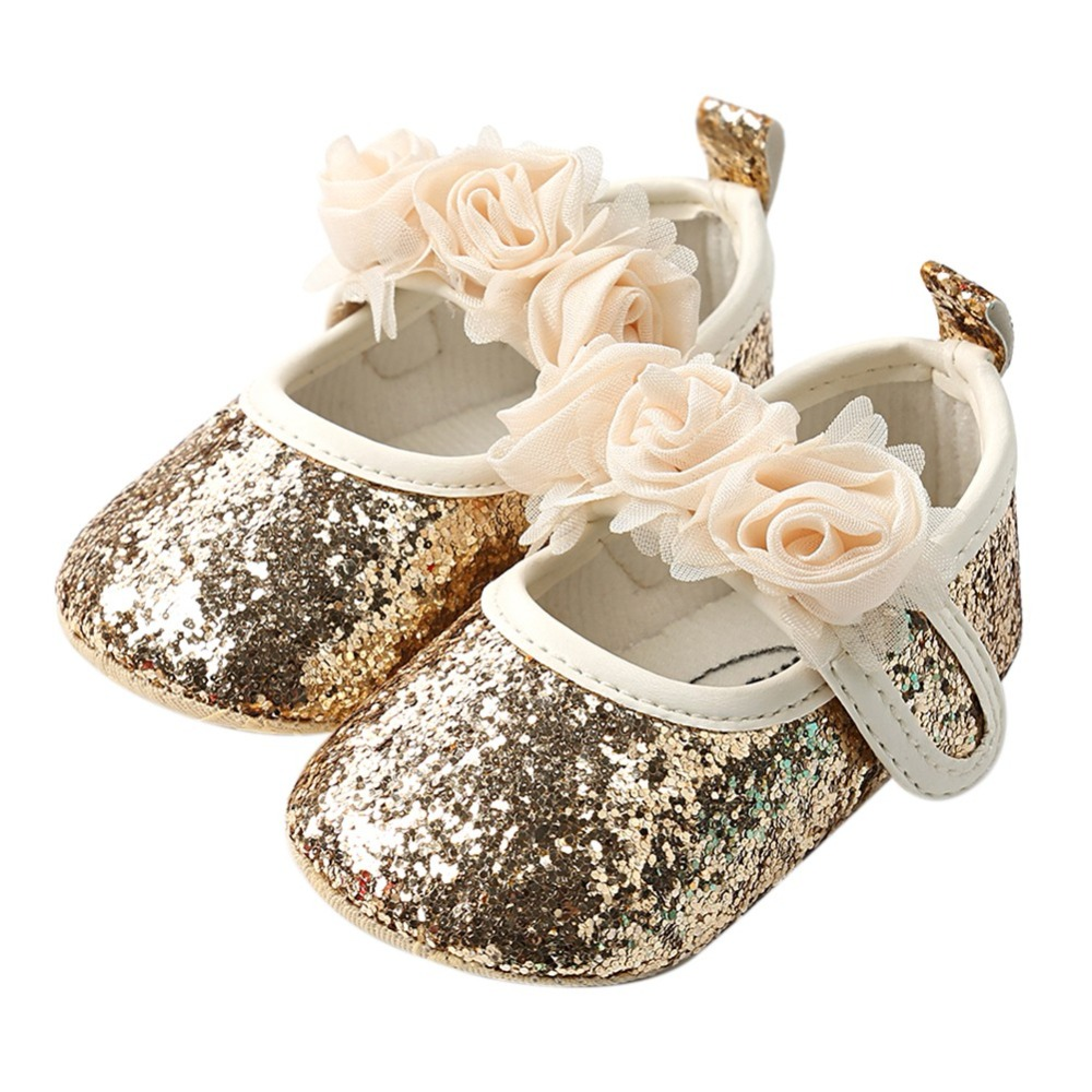 Baby First Walkers Girls Bow Bling PU Leather Newborn Babies 2018 Fashion Shoes Non-slip Prewalkers First Walkers