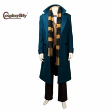 Cosplaydiy Fantastic Beasts and Where to Find Them Newt Scamander Costume Suit Adult Cosplay Movie Costume Custom Made J5