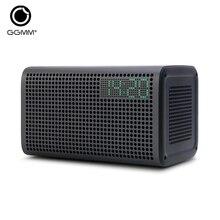 GGMM E3 Bezprzewodowy Głośnik Bluetooth Stereo Dźwięk z LED Zegar Alarm USB Port Ładowania dla Apple iOS Android Okna pozwalają Spotify