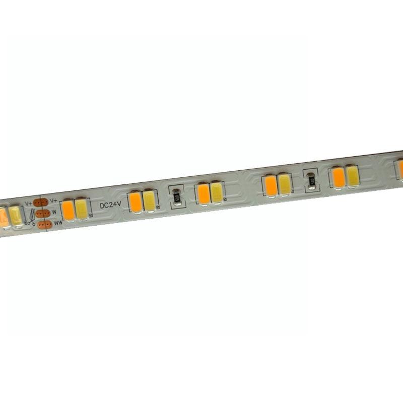 165mX High quality 5630SMD LED strip light CRI 81 DC24V 112LED m two color CW WW