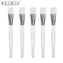 5pcs Crystal Facial Mask Brush Women Face Treatment Makeup Tool Mud Mask Applicator Brush with Plastic Handle Skin Care Tools