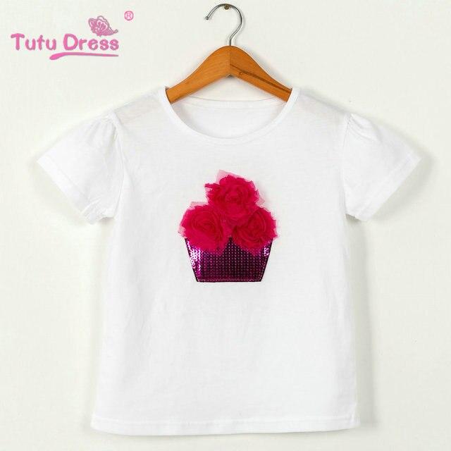 4cd0eda2664d 2018 Summer Baby T shirts Boys Girls Flower Short Sleeve Cotton Tops ...