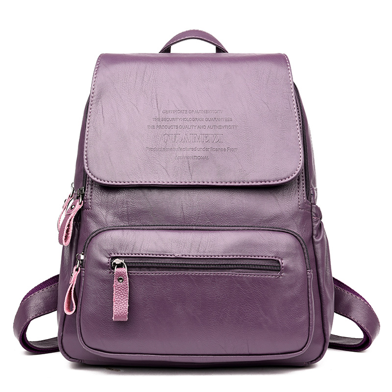 2019 Vintage Leather Backpacks Female Travel Shoulder Bag Mochilas Women Backpack Large Capacity Rucksacks For Girls Dayback New
