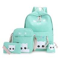 Han Edition 2017 Joker Contracted Handbag Cat Cute Japanese Original SuFeng Backpack Bag Since High School