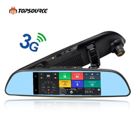 TOPSOURCE 6 86 3G Car Mirror GPS Android 5 0 Dash Cam Full HD 1080P Video