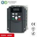 Voor Russische CE 220 v 4kw 1 fase input en 220 v 3 fase uitgang frequentie converter/ac motor drive/VSD/VFD/50 HZ Omvormer