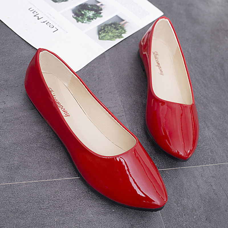 New Women Flats Shoes 2019 Woman Boat Shoes Pointed Toe Slip on Shoes Plus Size Office Career Work Footwear Ladie Fashion Casual in Women 39 s Flats from Shoes