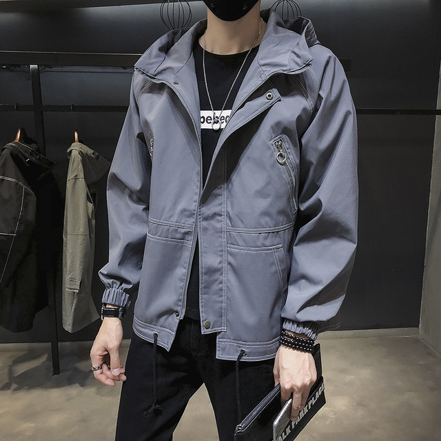 GODLIKE Autumn 2018 new Korean baseball wear men's fashion business casual long sleeve cap cotton jacket    M-3XL