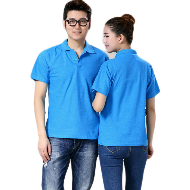 2016 new fashion mens polo shirt loose short sleeve tees for Couple polo shirts online
