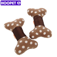 HOOPET Short Floss and Nylon Oxford Bone Phonate Color Toy Smooth Soft Grown Sound Dog Toys Bite Resistant