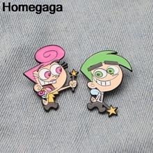 купить Homegaga The Fairly Odd Parents Zinc pins para backpack pride clothes medal for bag shirt hat badge brooches for men women D2139 по цене 168.69 рублей