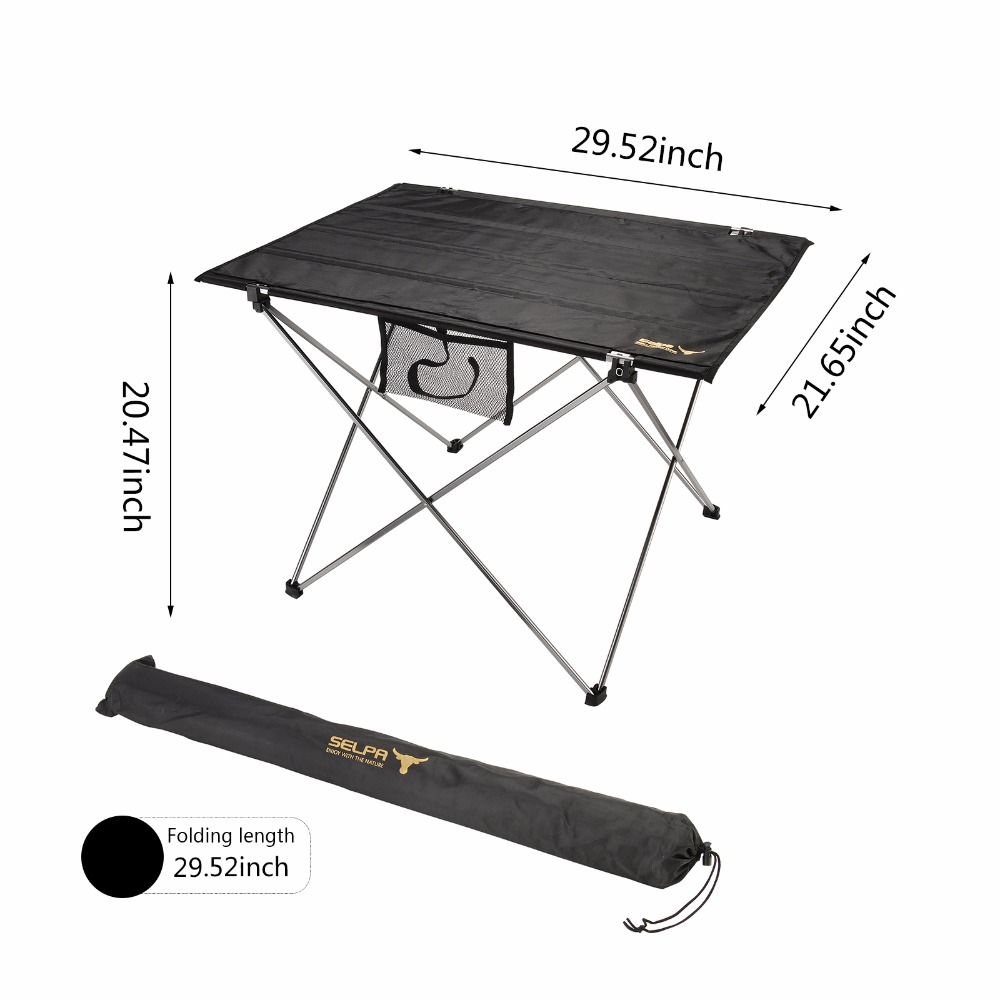 Portable Outdoor Folding Table Aluminium Alloy Ultra-light Picnic Table Durable Oxford Foldable Table Desk For Camping Hiking ultralight aluminium alloy camping mats