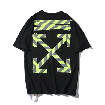 T-Shirt Hip hop manches courtes Off White OW 19ss
