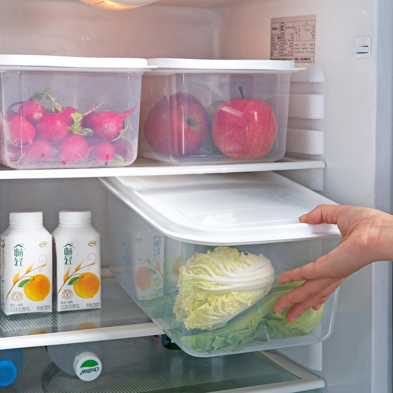 Прозрачный большой еда в холодильнике для хранения коробка чехол герметичный Домашний Органайзер Еда контейнер-холодильник для хранения к...