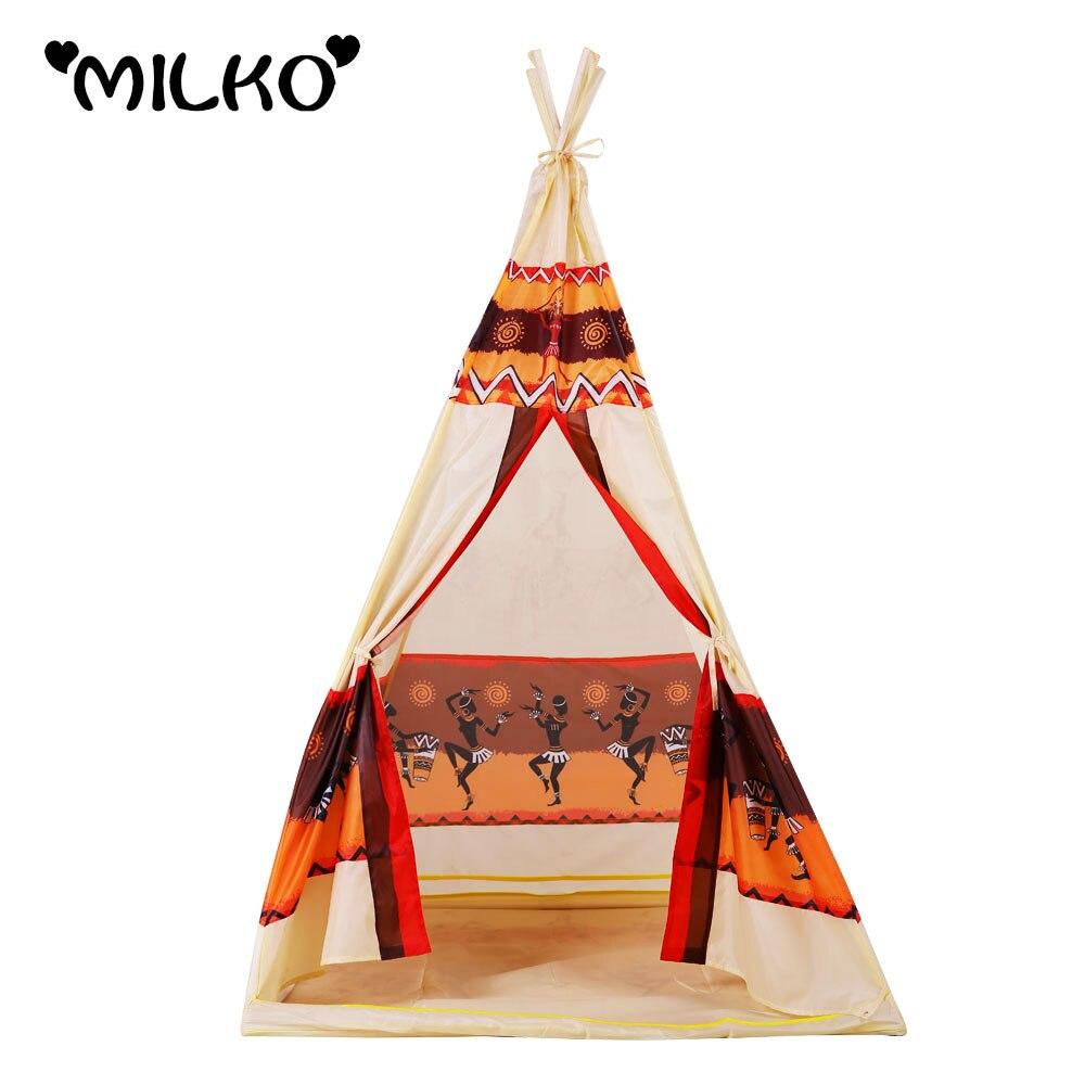 Tenda Indiani Fai Da Te bambini indiani giocattolo teepee gioca tenda playhouse