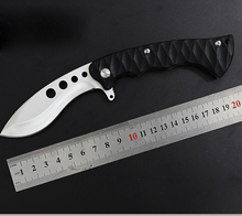 9Cr18MoV Steel Folding Knife Survival Pocket Knife 4 Holes Tactical Hunting Knife Outdoors Camping EDC Rescue Tools