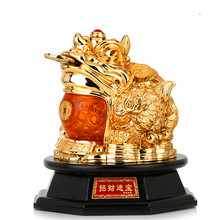 Good luck Free shipping gold-plated lucky golden toad furnishing articles and large opening move creative gifts home decorations